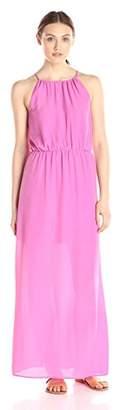 Lark & Ro Amazon Brand Women's Sleeveless Blouson Gathered Neck Maxi Dress