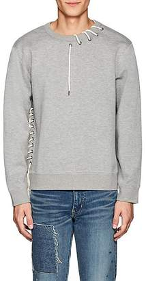 Craig Green Men's Lace-Up Jersey Sweatshirt - Light Gray