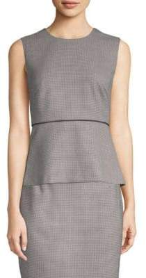BOSS Iritala Sleeveless Peplum Top