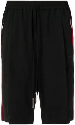 John Richmond side stripe shorts