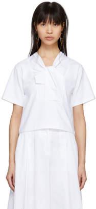 Carven White Twist T-Shirt