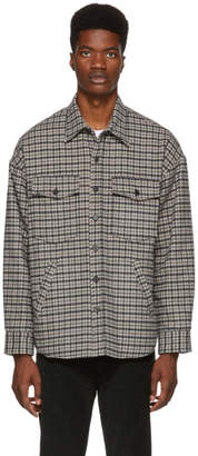 Golden Goose Tan Check Harald Shirt