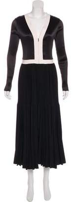 Barbara Casasola Pleated Maxi Dress