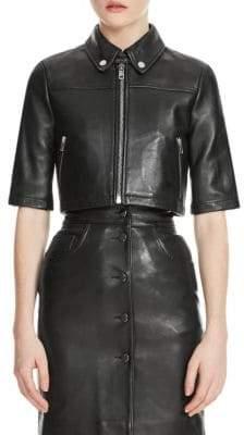 Maje Brittany Leather Jacket
