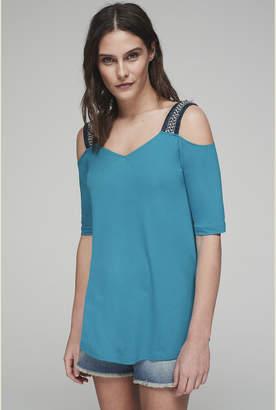 653c12e894c Blue Cold Shoulder Tops For Women - ShopStyle UK