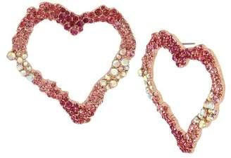 Betsey Johnson Open Heart Drop Earrings