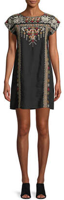 Johnny Was Allya Embroidered Linen Tunic Dress, Plus Size