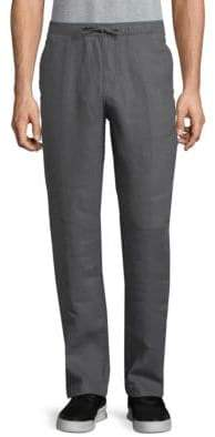 Saks Fifth Avenue BLACK Drawstring Linen Pants