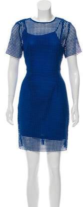 Diane von Furstenberg Chain Lace Mini Dress