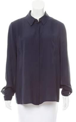 Frame Silk Button-Up Top