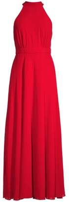 Laundry by Shelli Segal Chiffon Bow Back Gown