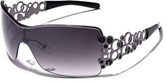 LEICO FASHION Oversized Women's Fashion Aviator Shield Sunglasses