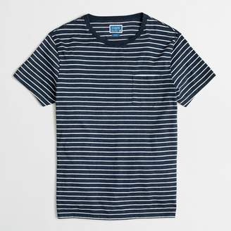 J.Crew Factory J.Crew Mercantile tall slim Broken-in striped pocket T-shirt