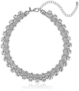 1928 Jewelry Glitzy Silver-Tone Crystal Strand Necklace