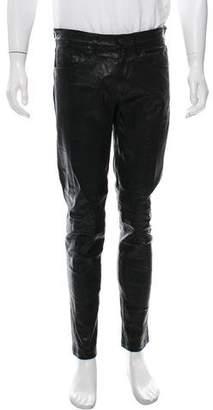 J Brand Leather Tonal Pants