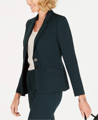 Kasper Two-Button Stretch Crepe Jacket