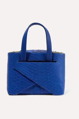 Ximena Kavalekas - Mimi Folded Python Tote - Cobalt blue