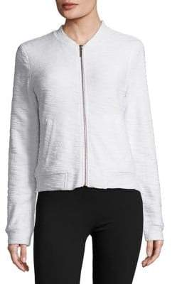 Andrew Marc Performance Textured Cotton Bomber Jacket
