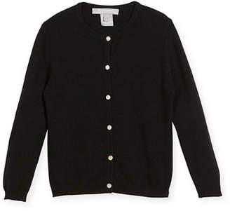 Sofia Cashmere Button-Front Cashmere Cardigan, Size 2-6