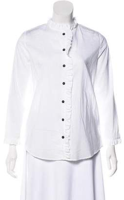 MiH Jeans Ruffle Trimmed Blouse