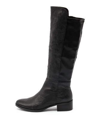 Django & Juliette Tipton Navy Boots Womens Shoes Casual Long Boots