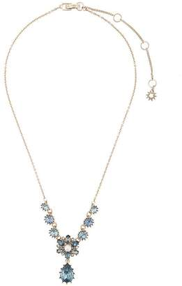 Marchesa embellished flower necklace