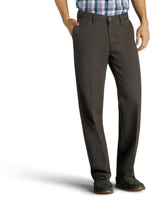 Lee Total Freedom Khaki Relax Fit Relaxed Fit Flat Front Pants-Big and Tall