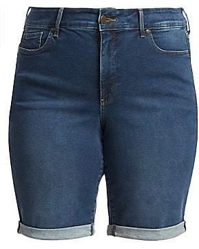NYDJ NYDJ, Plus Size Women's Briella Roll Cuff Denim Shorts