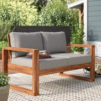 Union Rustic Lyall Loveseat with Cushion