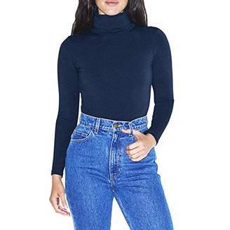 American Apparel Women's Cotton Spandex Long Sleeve Turtleneck Bodysuit