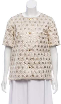 Marni Brocade Short Sleeve Jacket