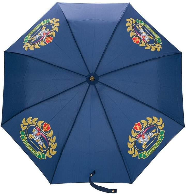 Burberry logo printed umbrella