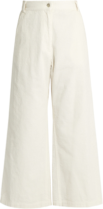 RACHEL COMEY Bishop wide-leg cropped corduroy trousers $345 thestylecure.com