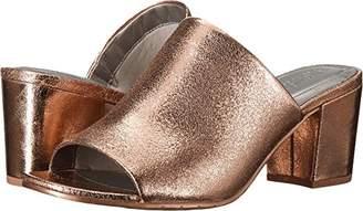 Kenneth Cole Reaction Women's Mass-TER Mind Open Toe Block Heel Metallic Slide Pump