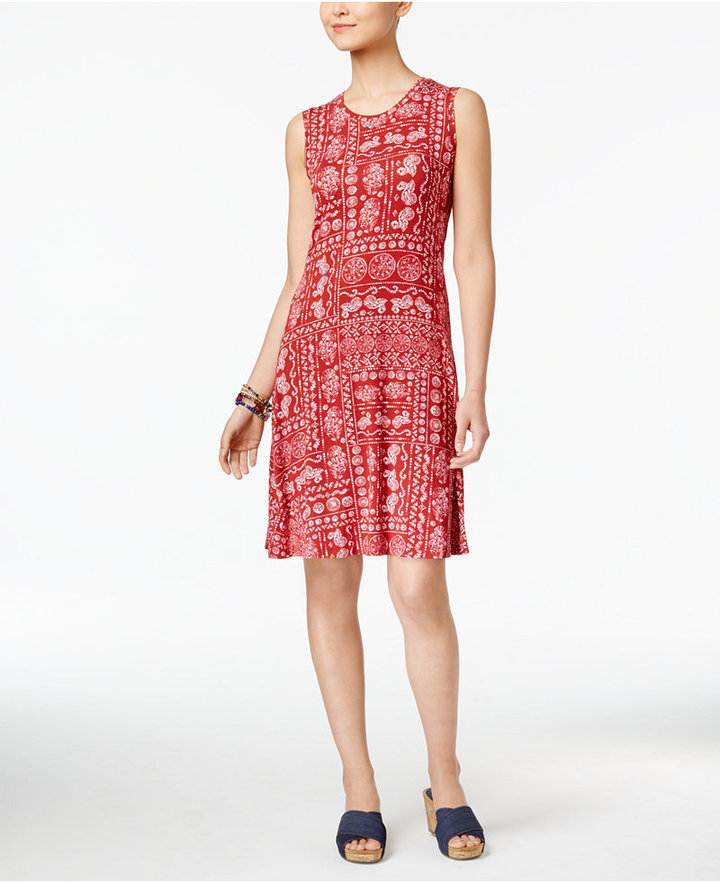 Style & Co. Sleeveless A-Line Swing Dress, Only at Macy's
