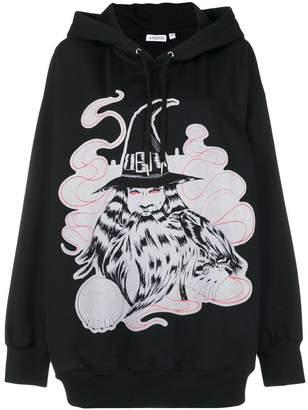 Ashish flock print oversized hoodie