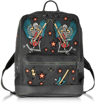 Zadig & Voltaire Arizona Broderie Elephant Gray Canvas Backpack $345 thestylecure.com