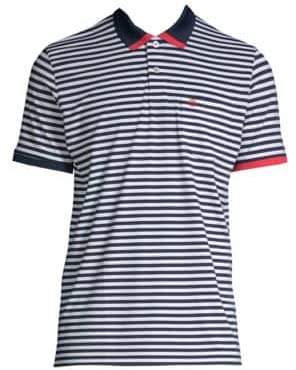 G/FORE Contrast Sleeve Stripe Polo Shirt