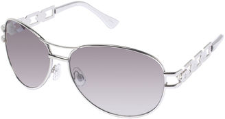ROCAWEAR Rocawear Chainlink Aviator Sunglasses $28 thestylecure.com