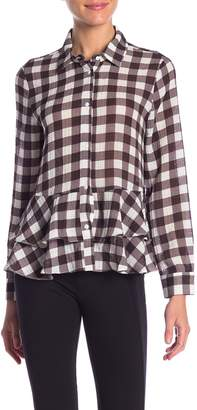 Sugar Lips Sugarlips Raphael White Plaid Ruffle Shirt