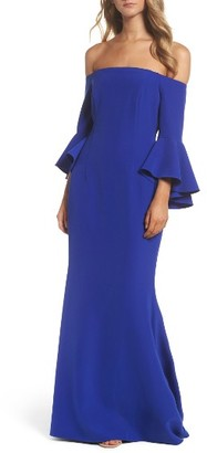 Women's Vince Camuto Off The Shoulder Gown $228 thestylecure.com