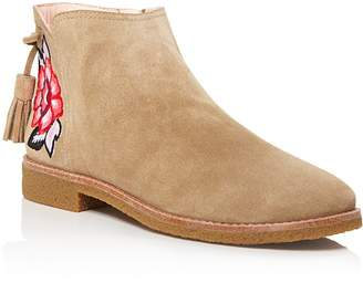 Kate Spade Bellville Embroidered Suede Booties