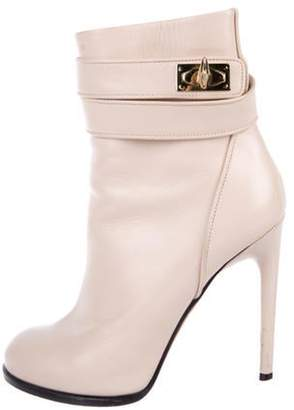 Givenchy Leather Ankle Boots Champagne Leather Ankle Boots