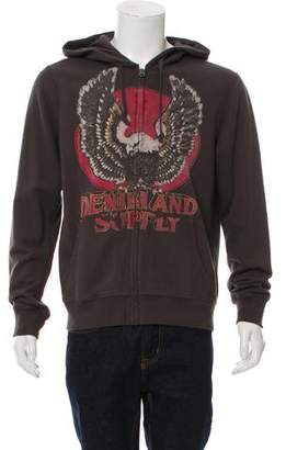 Denim & Supply Ralph Lauren Graphic Print Zip-Up Hoodie