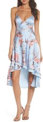 Fame & Partners The Farren Floral Silk Dress