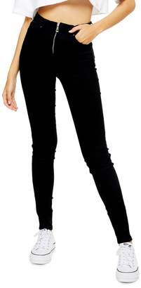 Topshop TALL Zip Front Jamie Jeans 36-Inch Leg