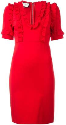 Gucci ruffle trim dress