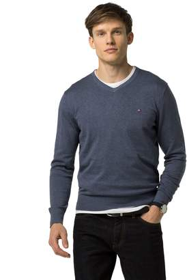 Tommy Hilfiger Cotton And Silk V-Neck Sweater