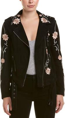 Diane von Furstenberg AS by As By Lotus Flower Suede Jacket