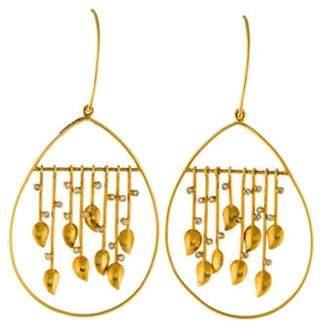 Amrapali 18K Diamond Drop Earrings yellow 18K Diamond Drop Earrings